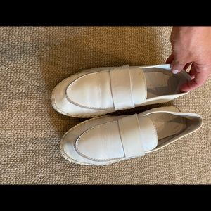 Vince loafers white size 7